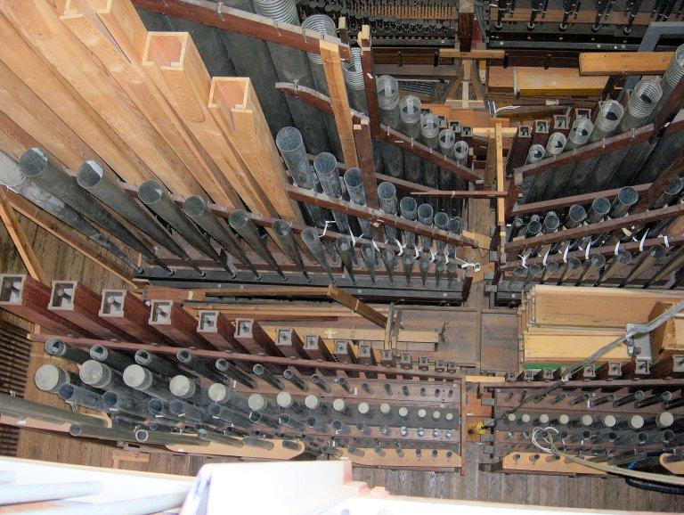 20 oktober 2006 Marcussen Montagehal met het orgel van Christiansborg Slotskirke