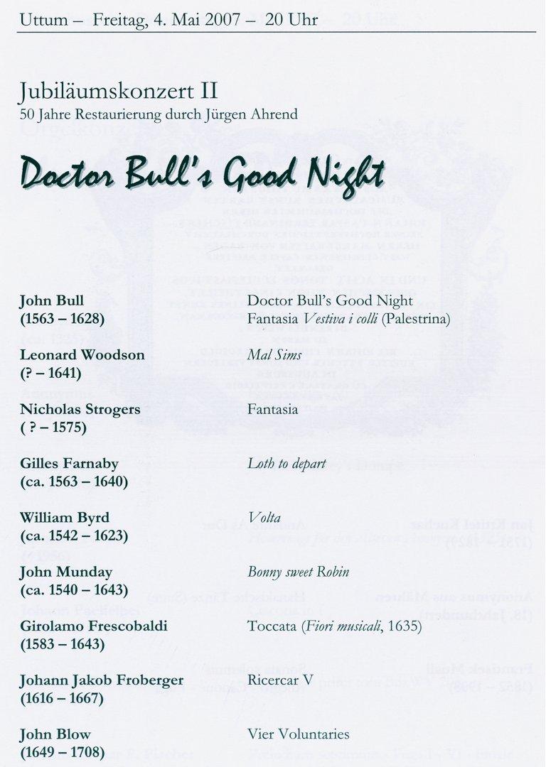 Programma Gustav Leonhardt 4 mei 2007