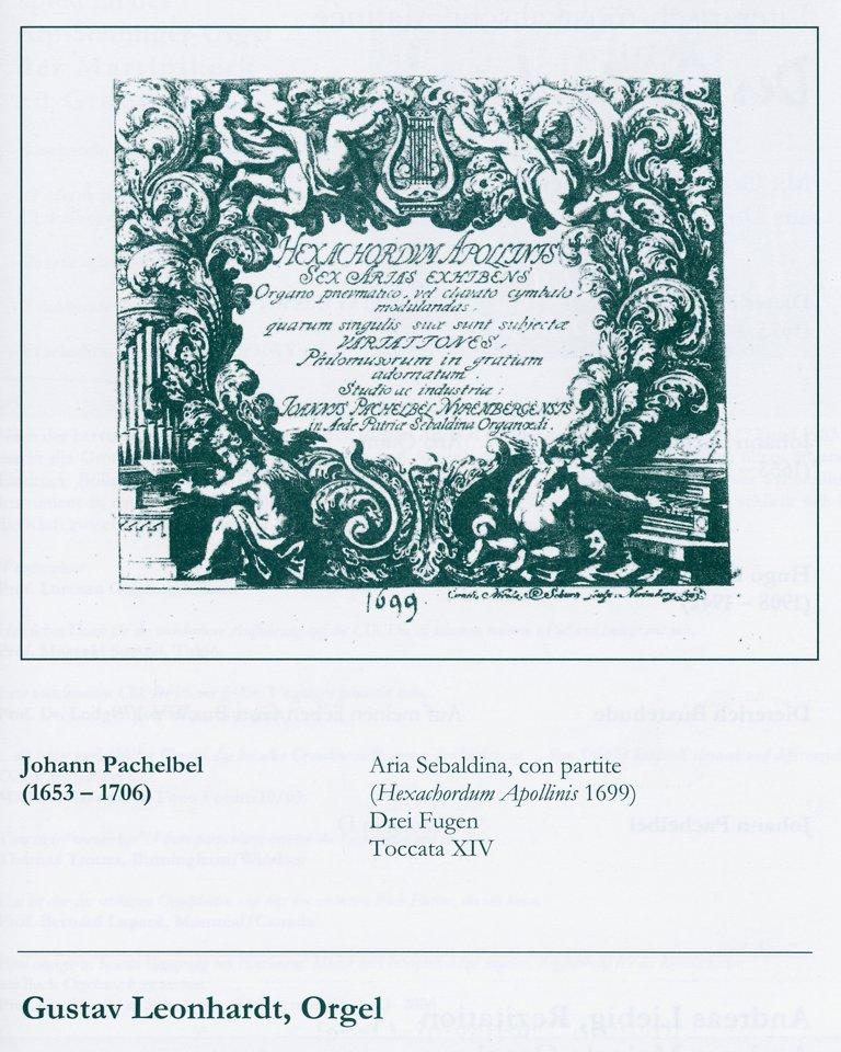 Hexachordum Apollinis Johann Pachelbel