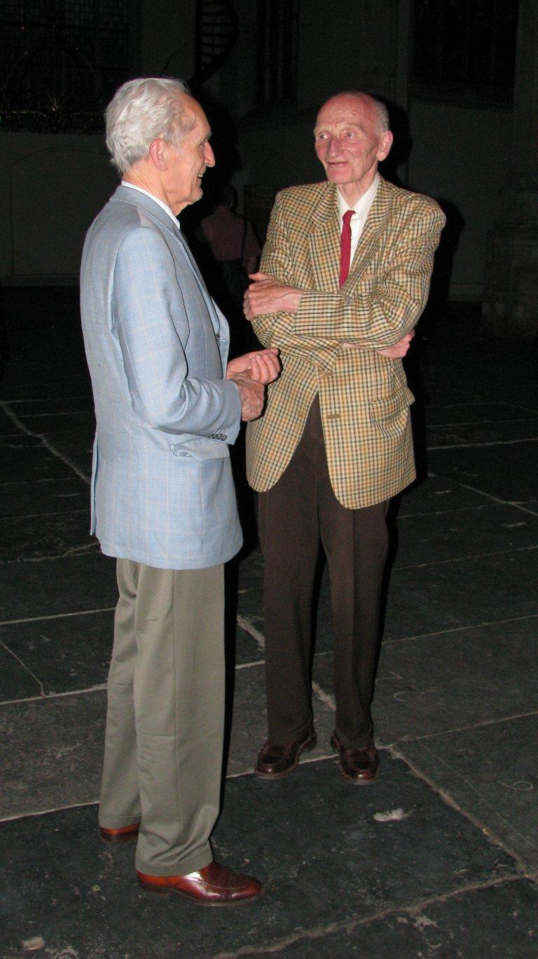 Gustav Leonhardt en Cor Edskes