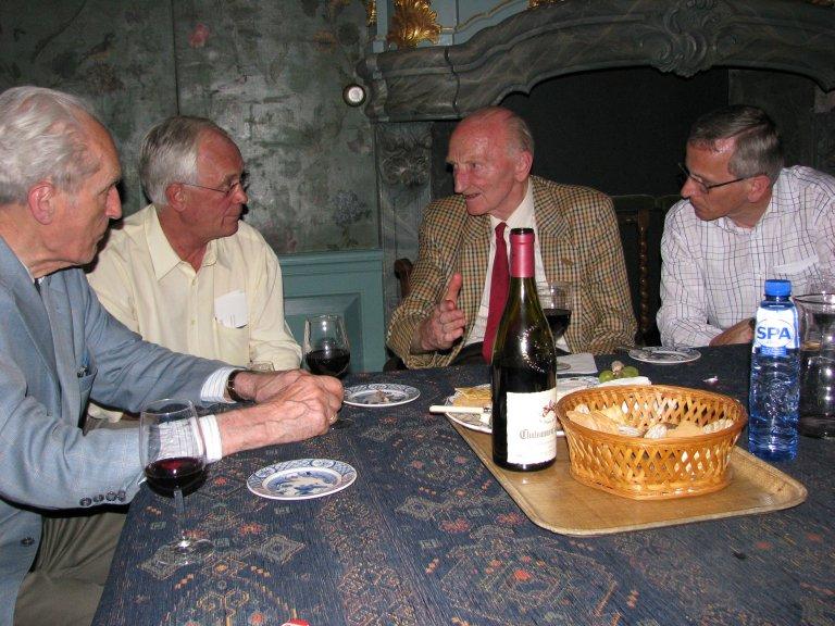 Gustav Leonhardt, Cees van Oostenbrugge, Cor Edskes en Frits Elshout