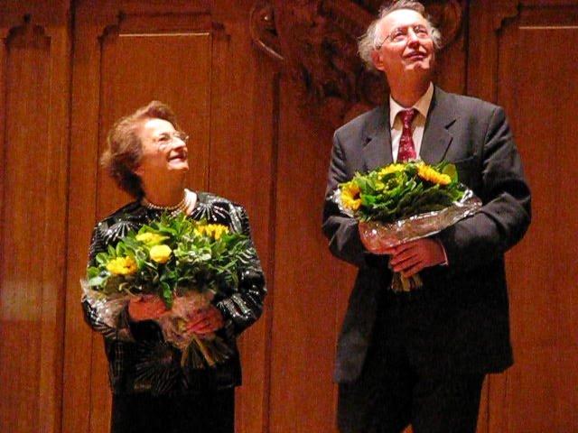 Marie-Claire Alain en Ton van Eck