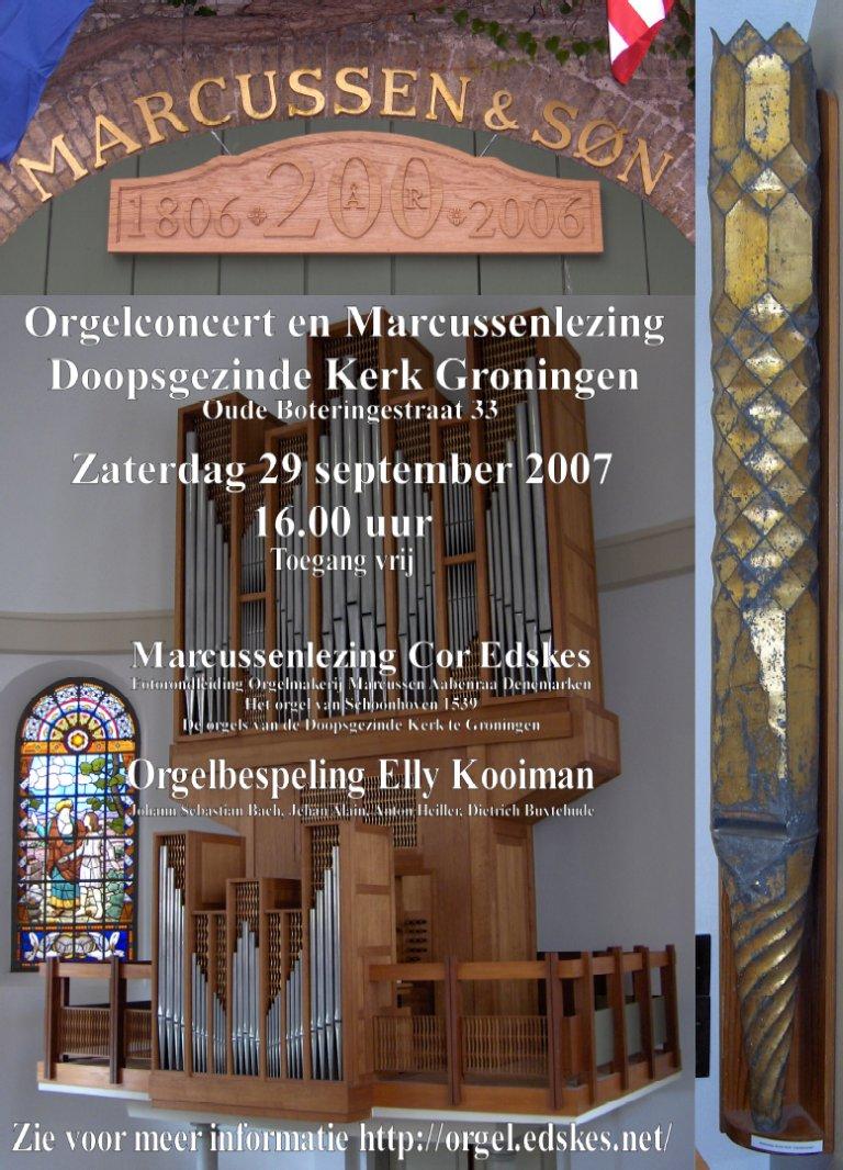Poster Doopsgezinde Kerk Groningen 29 september 2007