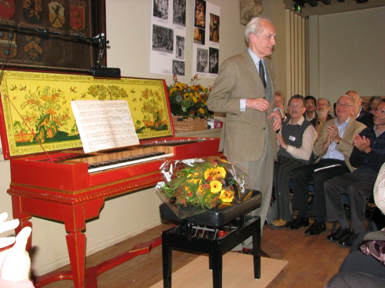 Gustav Leonhardt na het concert