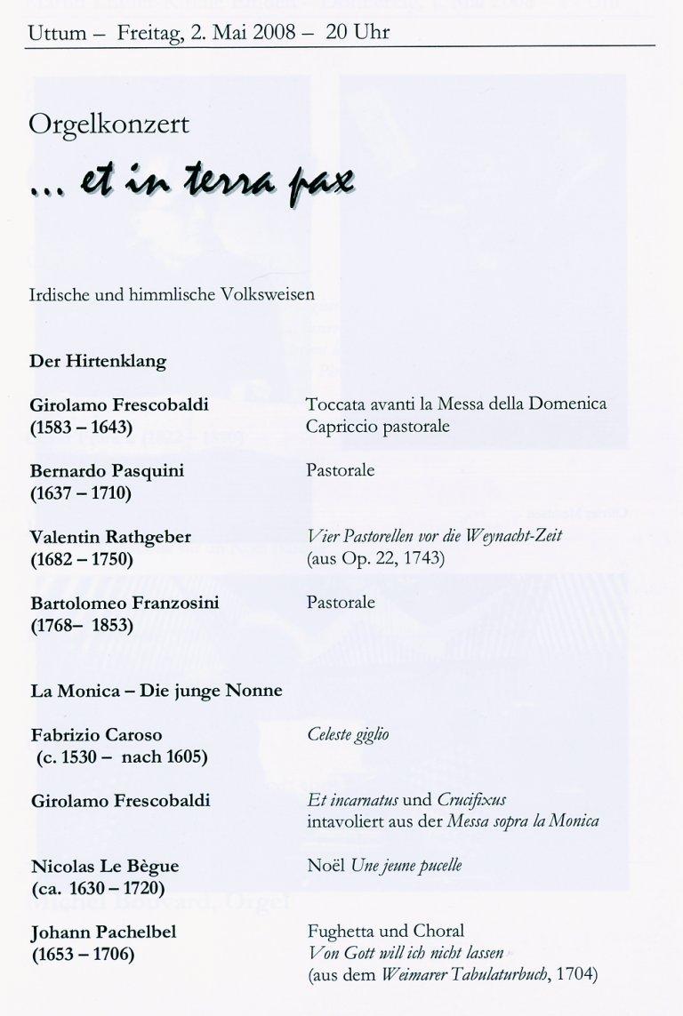 Programma Luigi Tagliavini 2 mei 2008