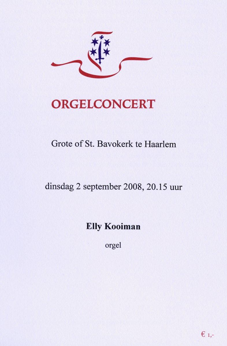 Programma Elly Kooiman 2 september 2008