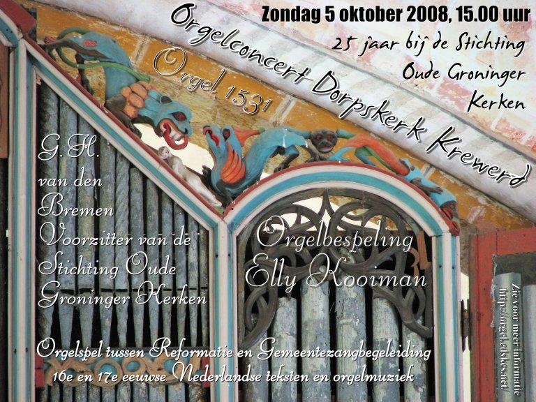 Poster Krewerd 5 oktober 2008