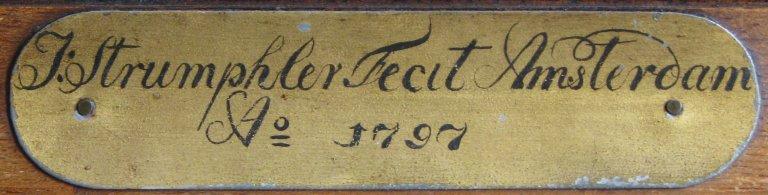 Strumphler Fecit Amsterdam 1797