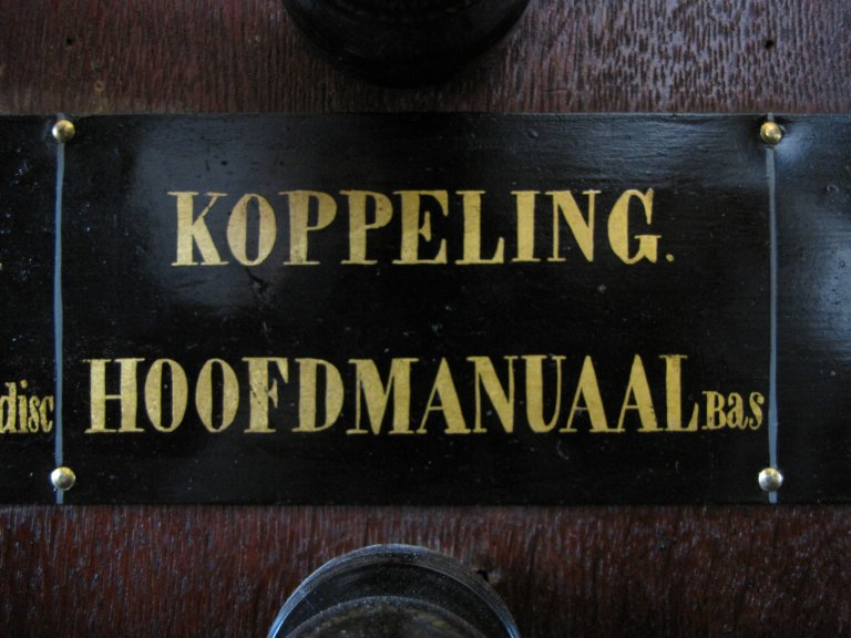 Der Aa-kerk Groningen HW KOPPELING HOOFDMANUAAL Bas