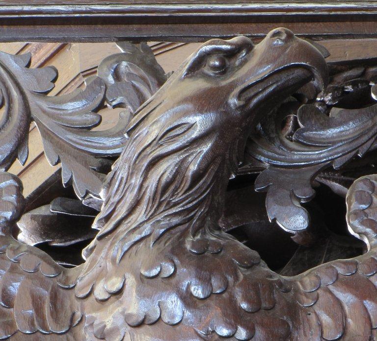 Der Aa-kerk Groningen BW deur met adelaar geopend