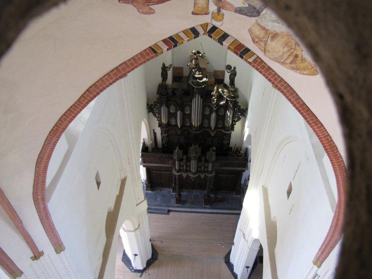 Der Aa-kerk Groningen Schnitgerorgel vanuit de gewelven, foto Jo Kuiper