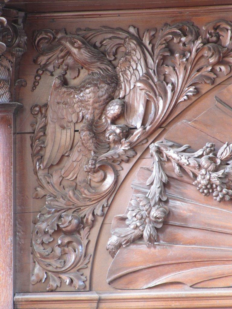 Der Aa-kerk Groningen Snijwerk onder RP met adelaar