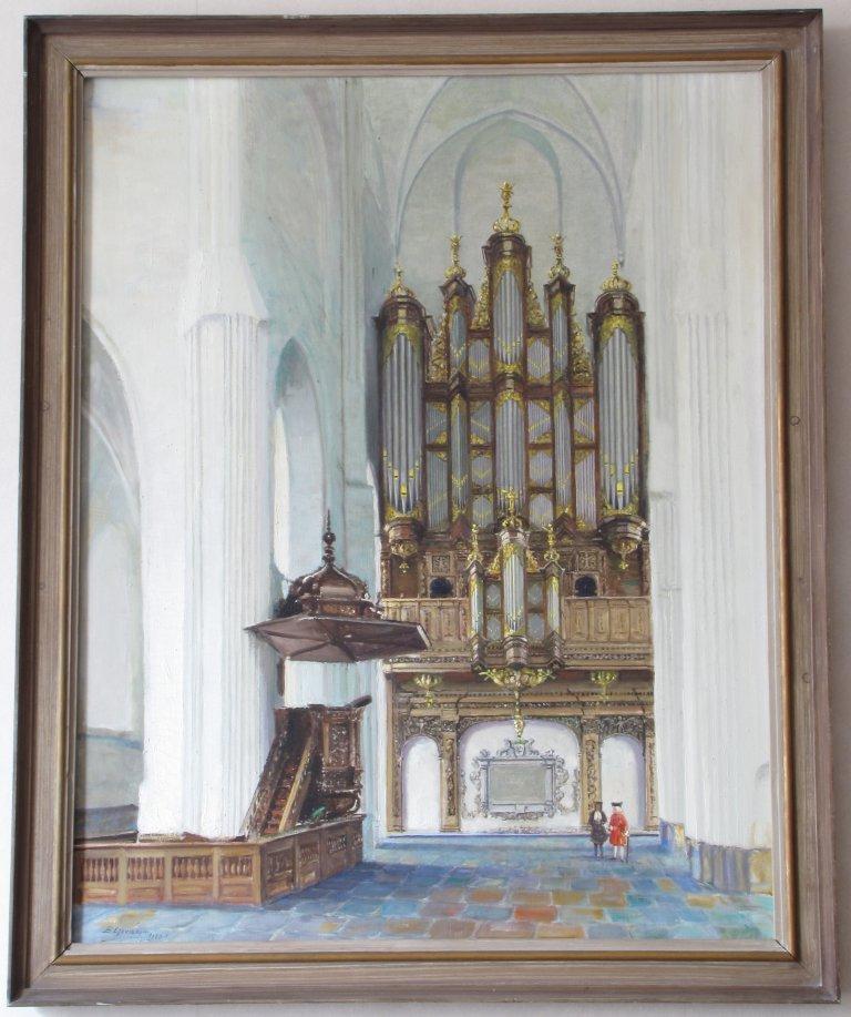 Der Aa-kerk Schilderij Eikelboom 1960 Schnitgerorgel 1697