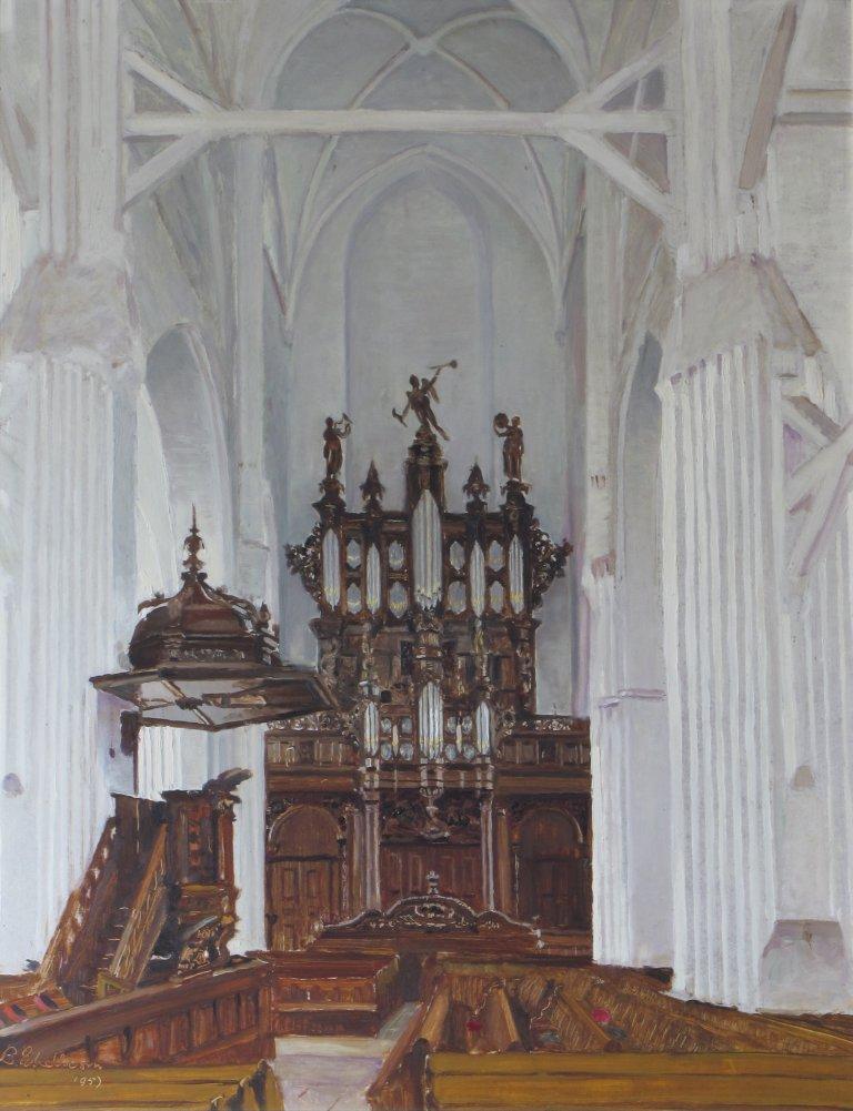 Der Aa-kerk Schilderij Eikelboom 1957 Schnitgerorgel 1702