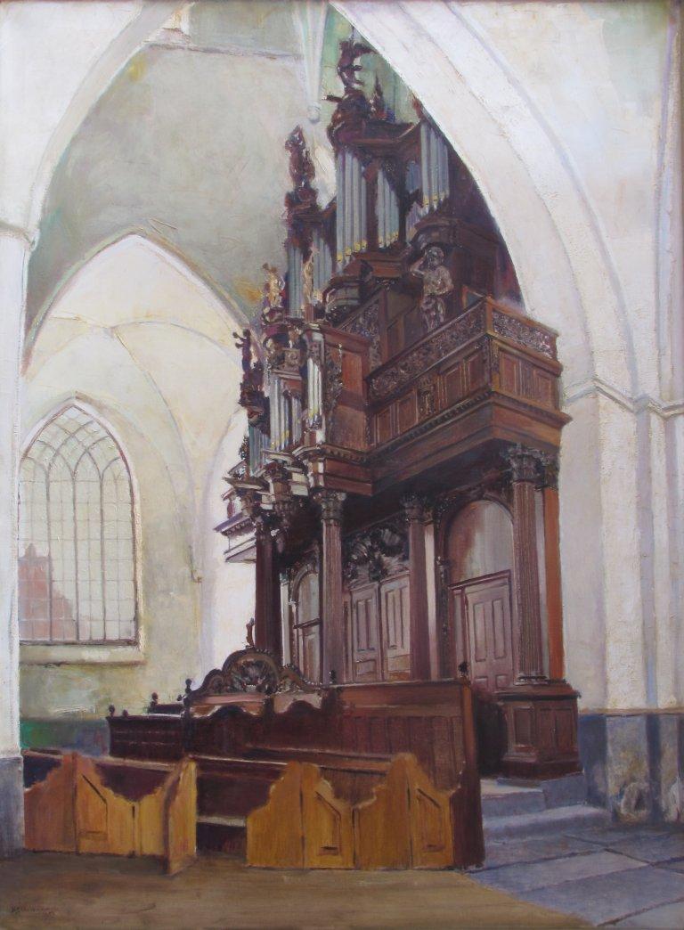 Der Aa-kerk Schilderij Eikelboom 1959 Schnitgerorgel 1702