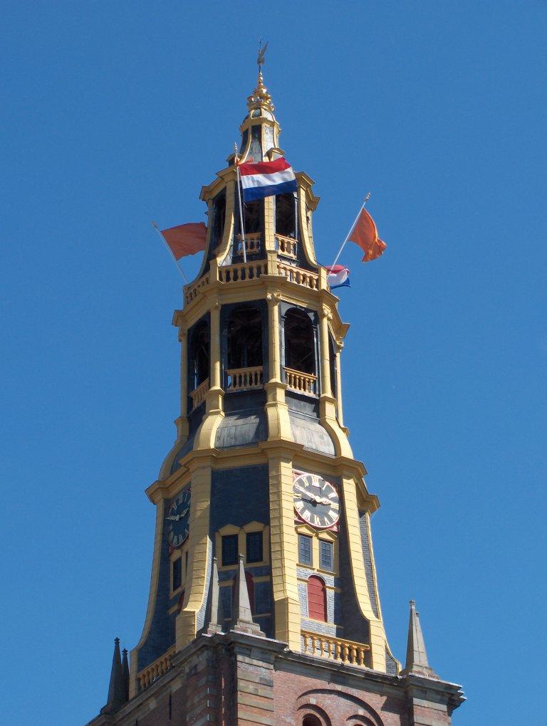 Toren van de Der Aa-kerk te Groningen vanuit het noordwesten