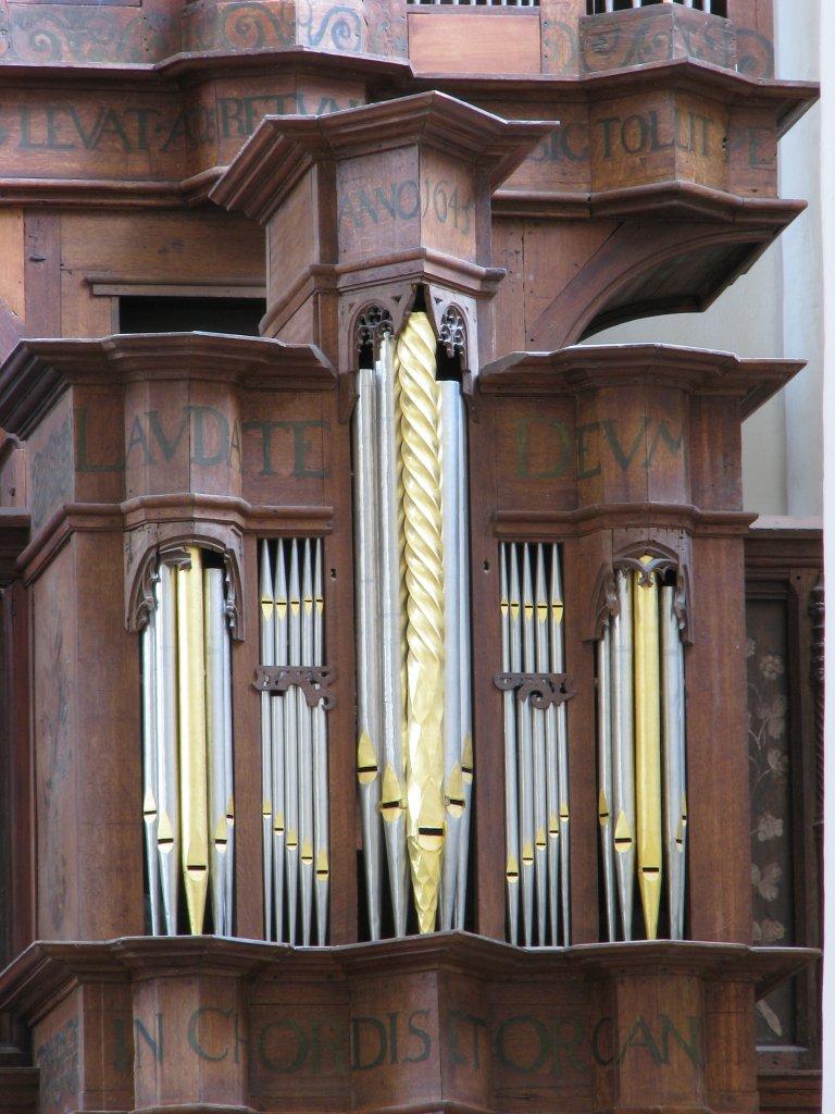 Der Aa-kerk Groningen Rugpositief met teksten