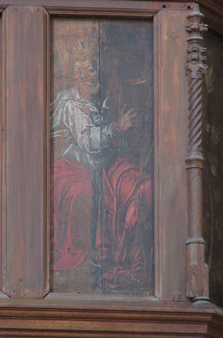 Der Aa-kerk Groningen Balustrade Koning David met harp