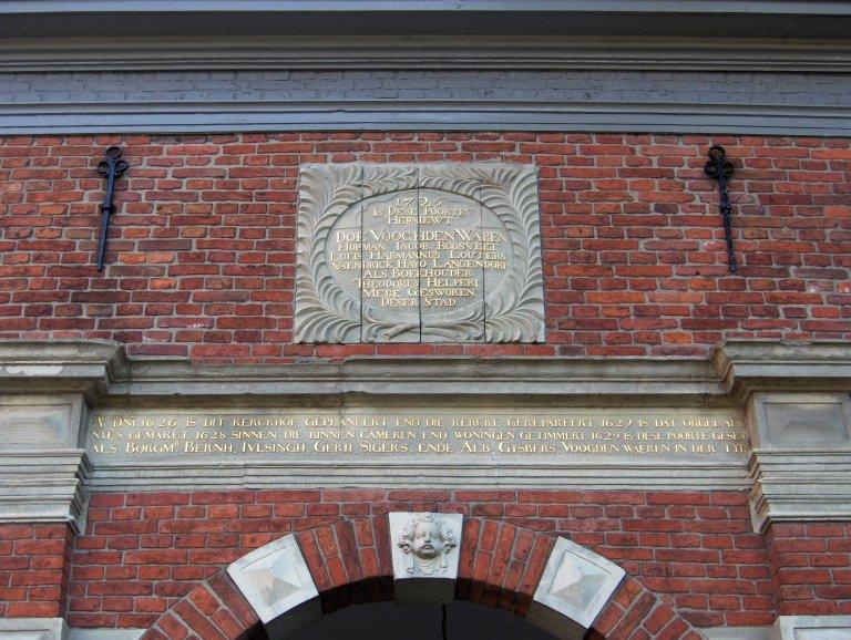 Pelstergasthuis Groningen Poort 1627 Is Dat Orgel Als Nyes Gemaket