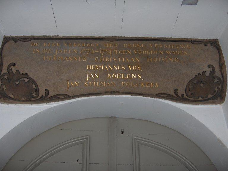 Pelstergasthuis Groningen Het Orgel Vernieuwd 1773-1774