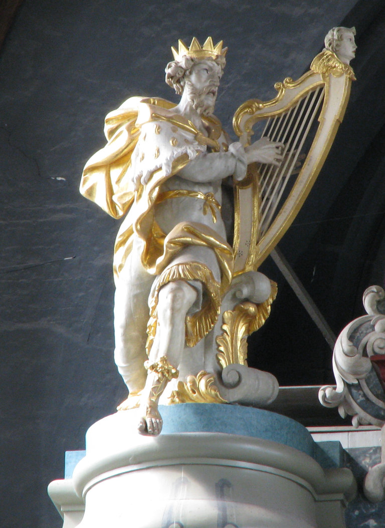 Koning David met harp 