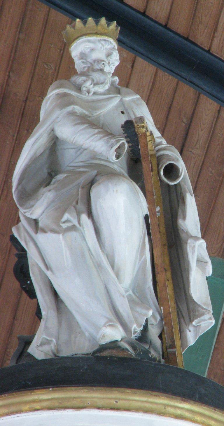 Koning David met harp