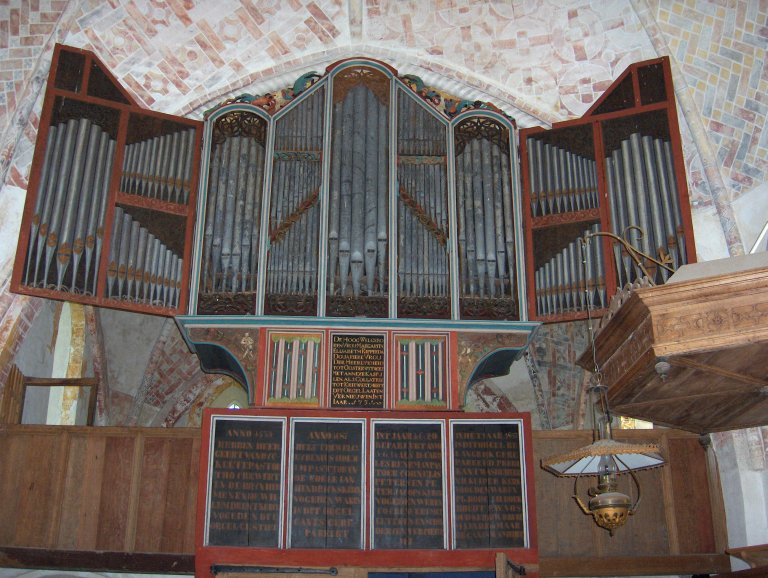 Dorpskerk Krewerd Orgelfront 1531