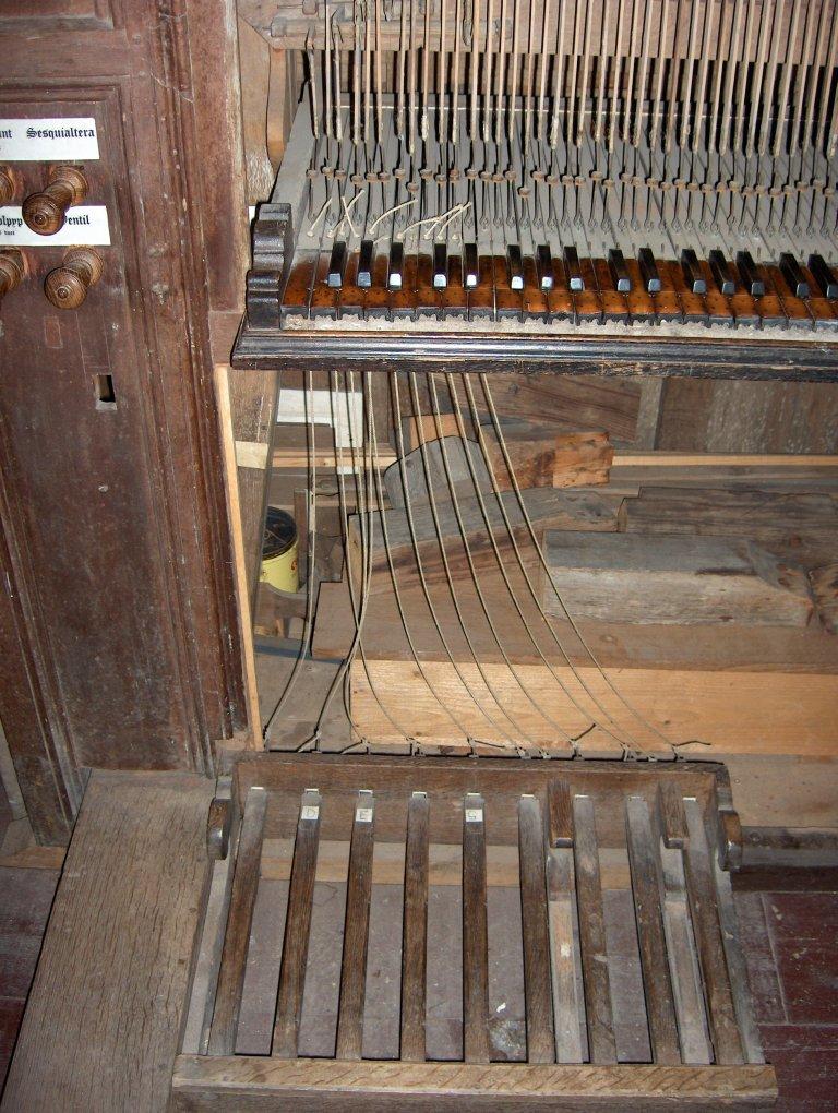 Dorpskerk Krewerd Orgel 1531 Aangehangen pedaal