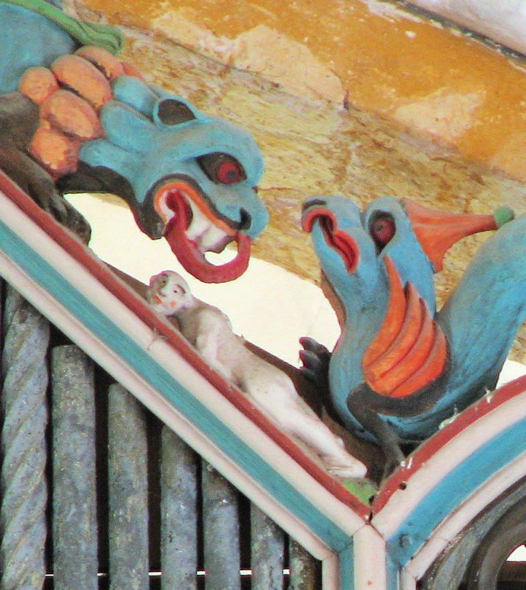 Dorpskerk Krewerd Orgelfront 1531 Beelden Rechts