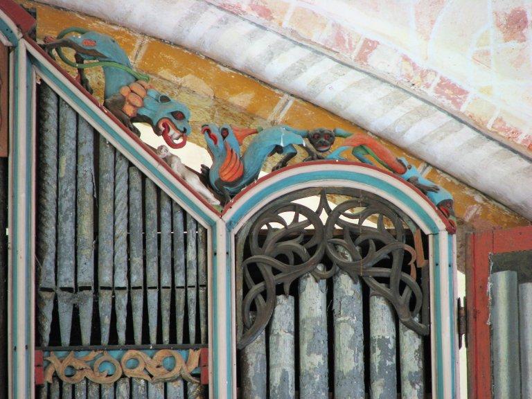 Dorpskerk Krewerd Orgelfront 1531 Rechtsboven