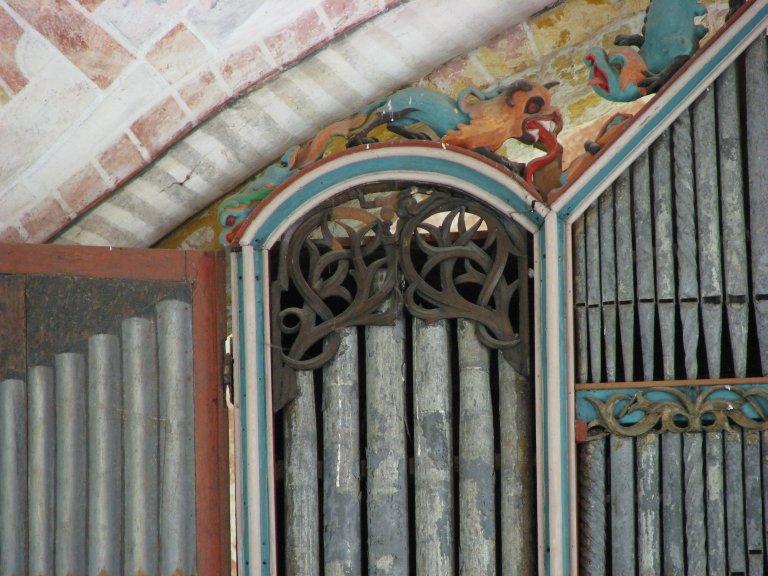 Dorpskerk Krewerd Orgelfront 1531 Linksboven