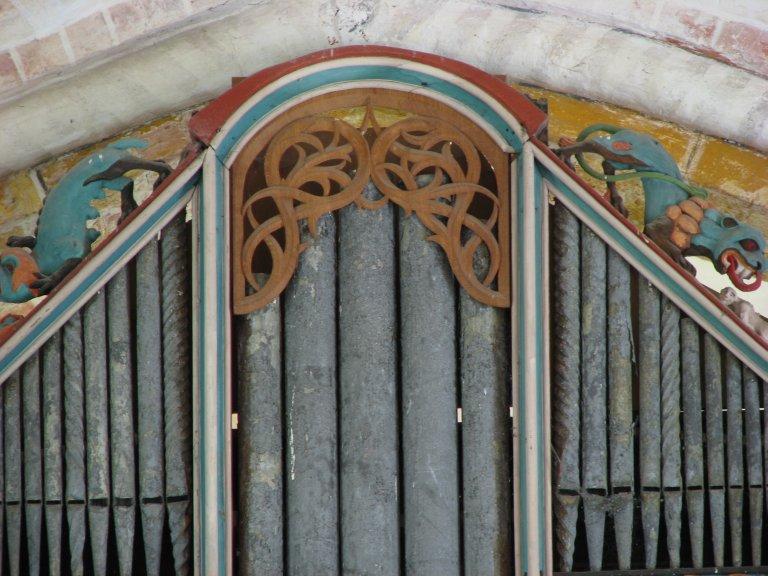 Dorpskerk Krewerd Orgelfront 1531 Boven