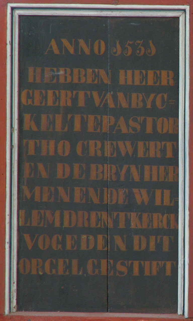 Dorpskerk Krewerd Tekst Anno 1531