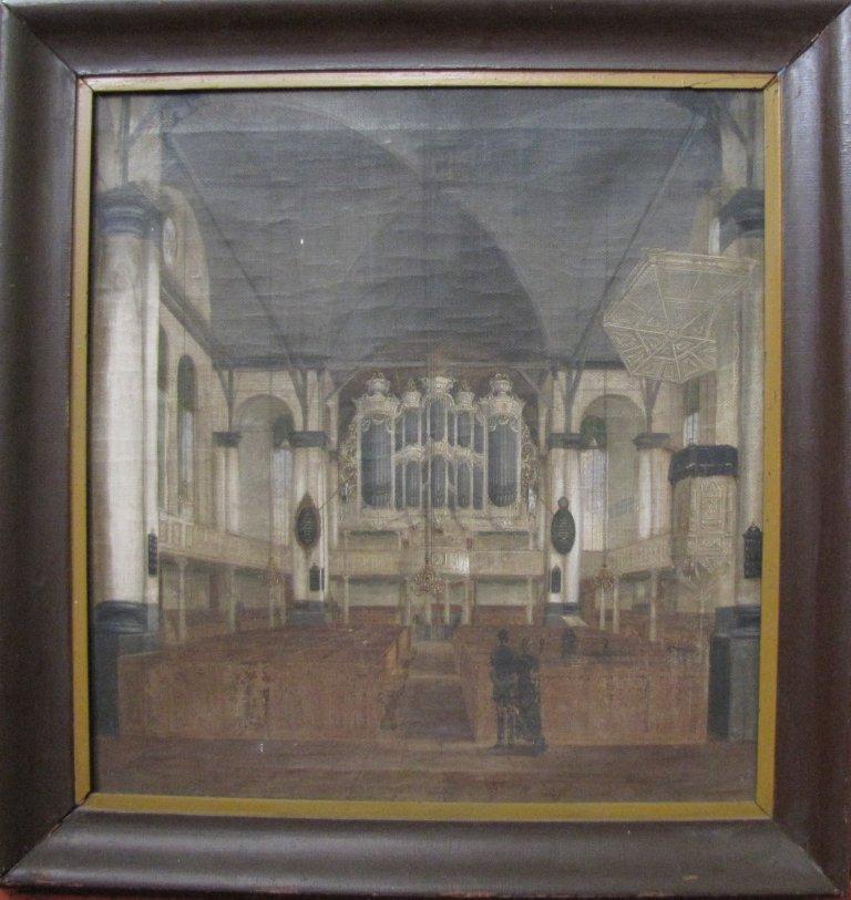 Schilderij kerkinterieur
