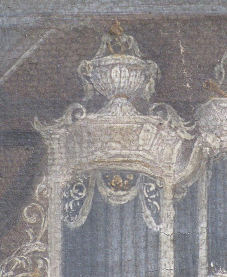 Schilderij bekroning linker Pedaaltoren
