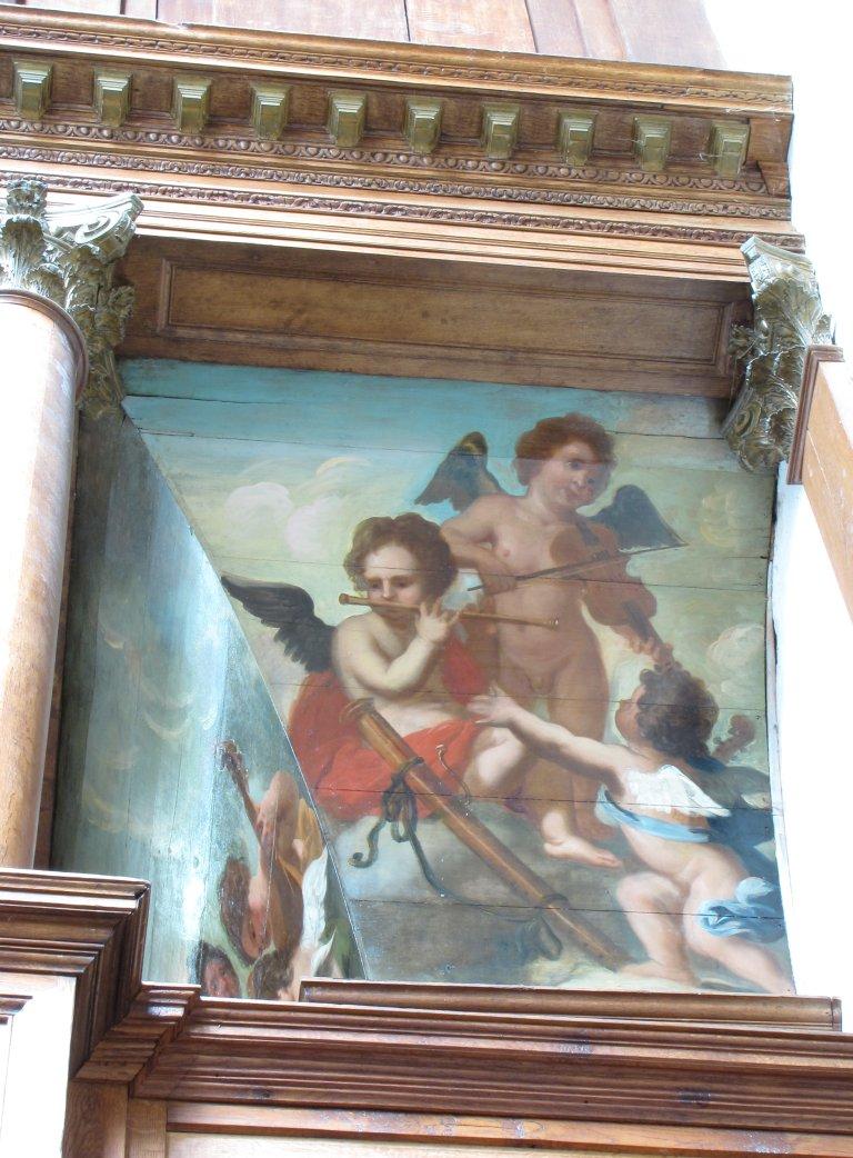 Schilderwerk hoofdwerkkast musicerende engelen rechts