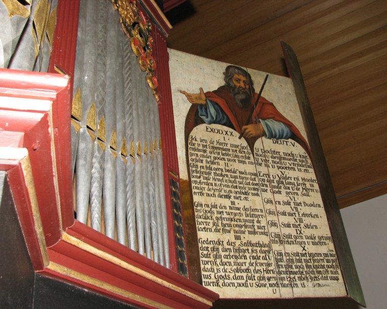 Midwolde Dorpskerk, Rechter luik, Mozes