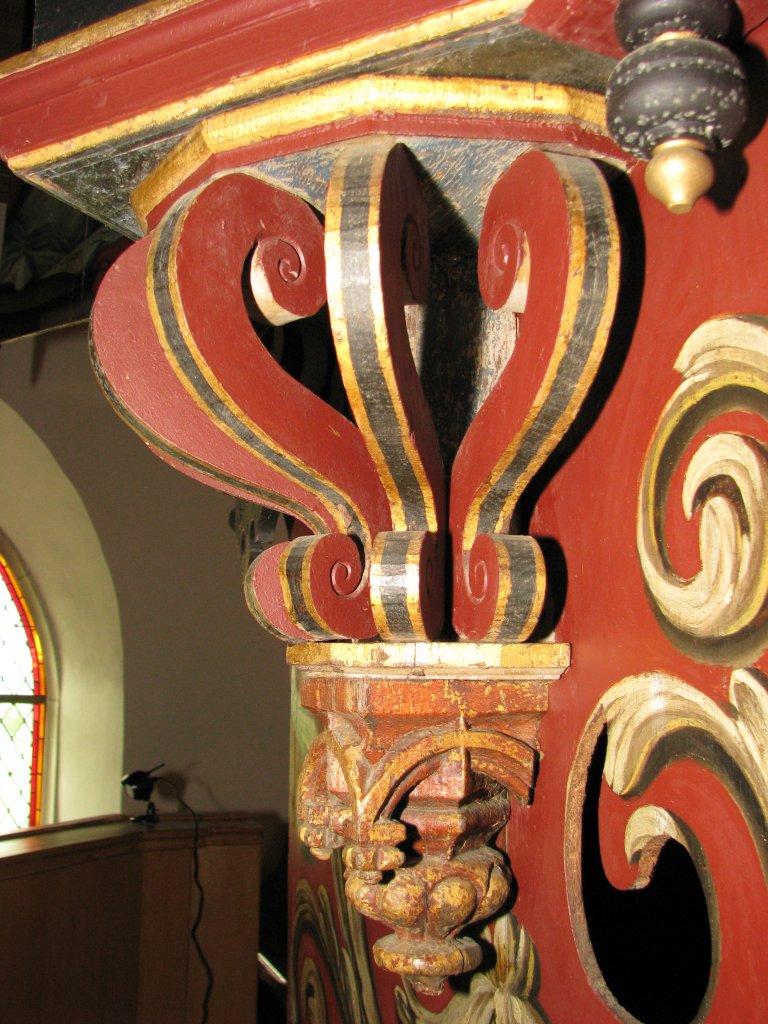 Midwolde Dorpskerk, Orgelkast detail