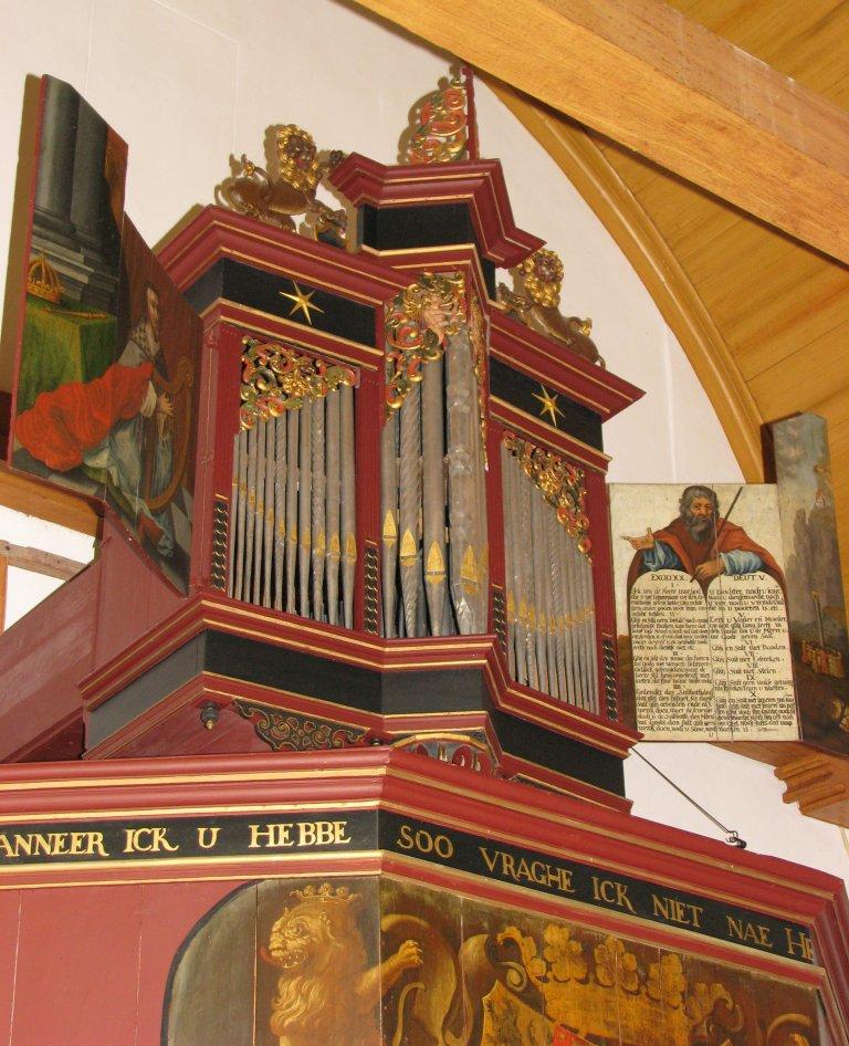 Midwolde Dorpskerk, Orgelfront