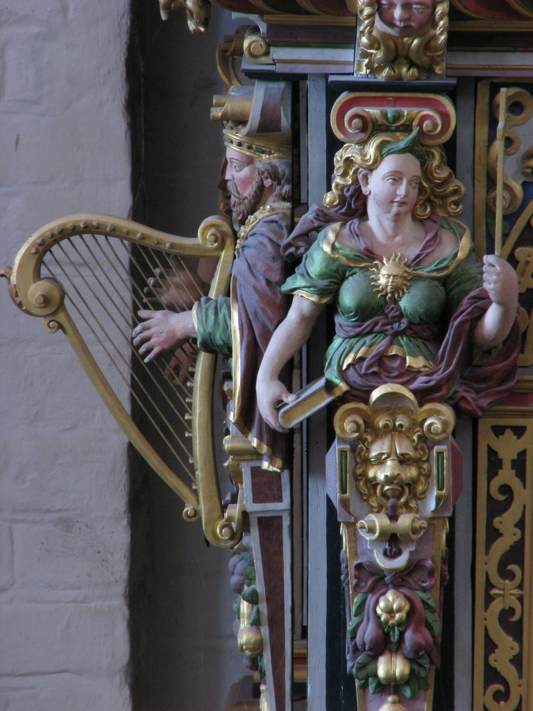 Koningsgestoelte, Koning David met harp