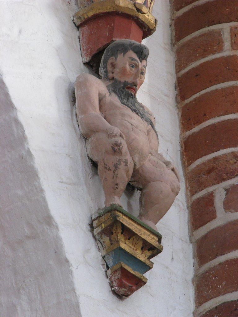 Orgel onderzijde, drager westzijde