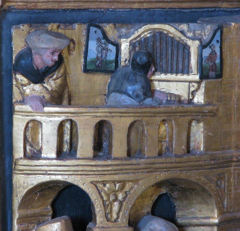 Altaar, orgeltribune
