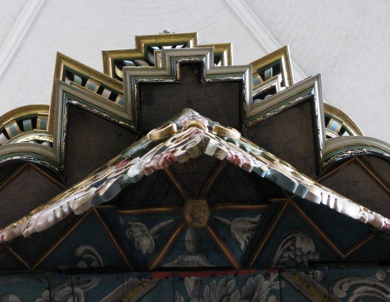 Orgel onderzijde, profiel Rugpositief