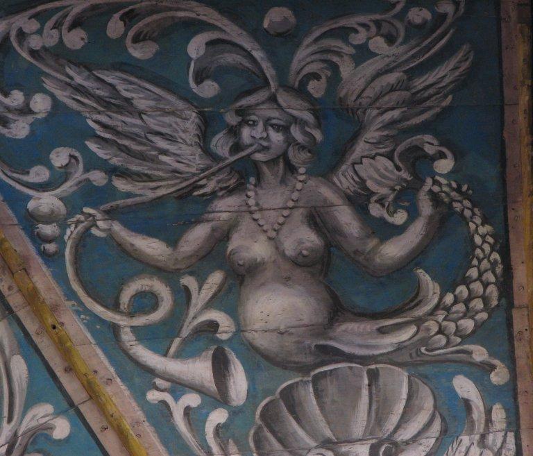 Schilderwerk onder het orgel - blazer
