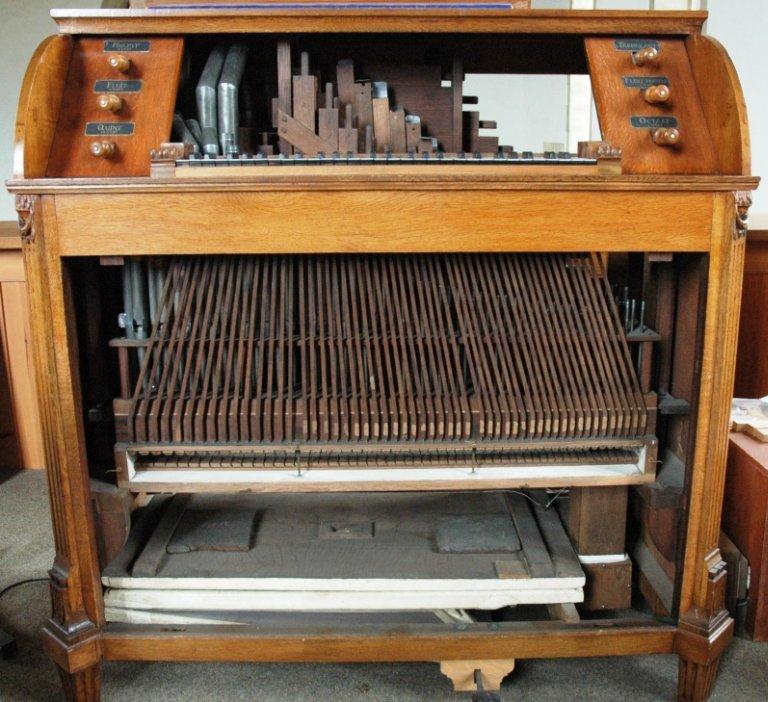Orgel Schnitger & Freytag ca. 1796, Pijpen, stekermechaniek, windlade en balg