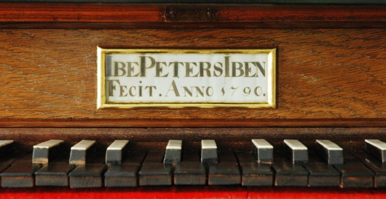Orgel Ibe Peters Iben 1790, Ibe Peters Iben Fecit anno 1790