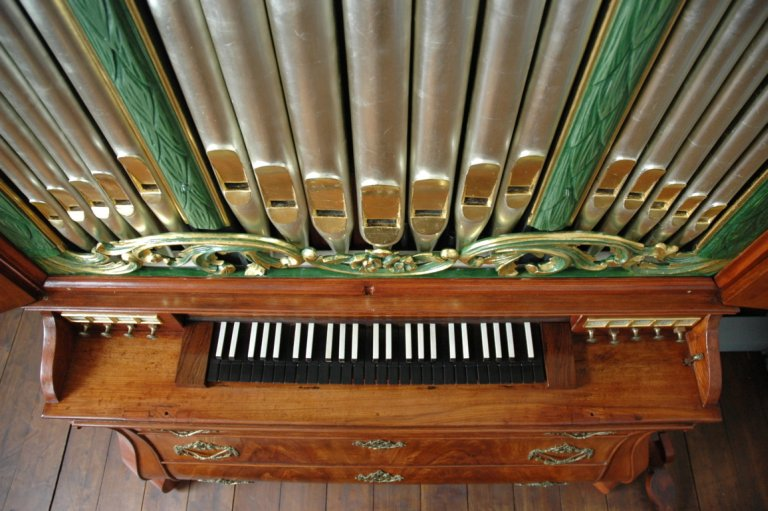 Orgel Ibe Peters Iben 1790 Orgel van boven