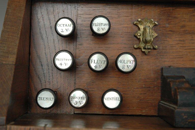 Orgel Jan Jacob Vool ca. 1800, Registers links
