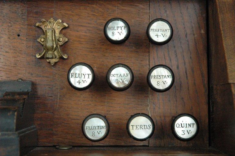 Orgel Jan Jacob Vool ca. 1800, Registers rechts